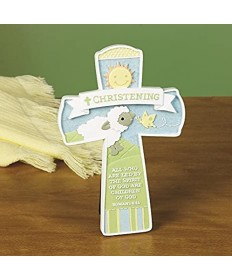Christening Blessing Cross with Easel