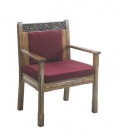 "Celebrant Chair with Upholstered Seat and Back 37""H"