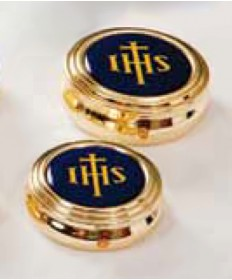 Pyx with IHS Enameled Cover (6-8 Hosts)