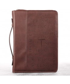 Names of Jesus Burgundy Bible Cover - Large