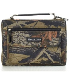 Canvas Camo Green Bible Cover - Medium