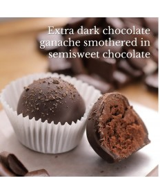 Brigittine Monks Extra Dark Chocolate Truffles Royale