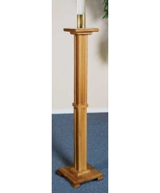 Silk-Screened Paschal Candleholder in Pecan Stain by Robert Smith
