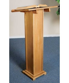 Silk-Screened Lectern with Pecan Stain