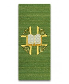 Lectern or Ambo Cover in Green Open Bible by Slabbinck Art Studio