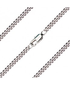 "18"" Chain Light Rhodium with Clasp (2.90mm)"