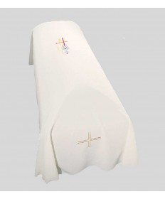 Funeral Pall with JHS, Cross and Wheat Embroidery