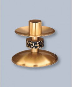"Regal Altar Candlestick with 1.5"" Socket, 3-3/4""H"
