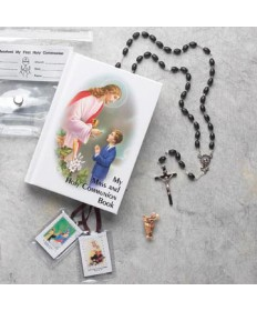 First Communion Missal Set for Boys with Plastic Wallet