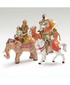 "Fontanini 5"" Three Kings on Animals Set"