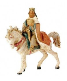 "Fontanini 5"" King Melchior on Horse"