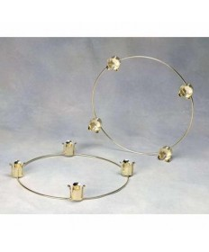 "Advent Wreath 14"" Brass Plated for 1.5"" Candles"