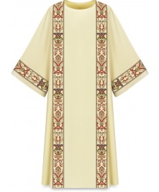 Dalmatic by Slabbinck in Dupion Fabric with Regina Orphrey