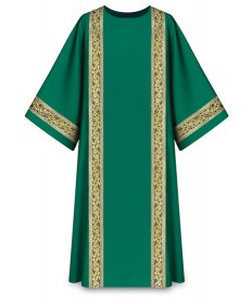 Dalmatic in Brugia Fabric by Slabbinck - Green
