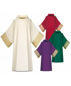 Dalmatic by Slabbinck in Brugia Fabric with Gold Band
