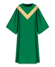 Dalmatic in Dupion Fabric by Slabbinck - Green