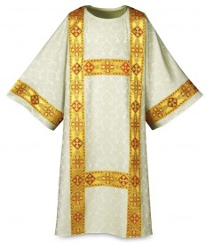 Dalmatic by Slabbinck in Duomo Fabric with Gold Band