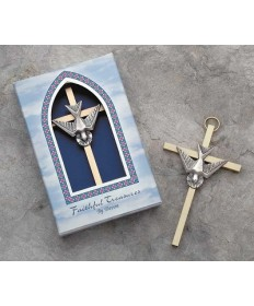Holy Spirit Metal Cross 4""