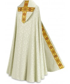 Cope by Slabbinck in Duomo Fabric with Gold Band