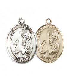 "Saint Andrew the Apostle Medal - 1"" Oval"