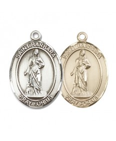 "Saint Barbara Medal - 1"" Oval"