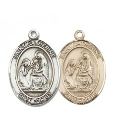 "Saint Catherine of Siena Medal - 1"" Oval"
