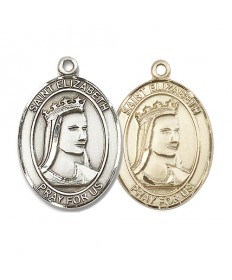 "Saint Elizabeth of Hungary Medal - 1"" Oval"