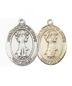 "Saint Francis of Assisi Medal - 1"" Oval"