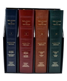 Liturgy of the Hours Four Volume Set in Large Print - Leather