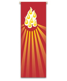 Inside Church Banner Flame