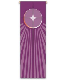 Inside Church Banner Advent Star