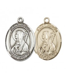 "Saint Bridget of Ireland Medal - 1"" Oval"