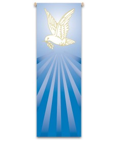 Inside Church Banner Dove, Symbol of Peace