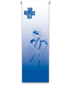 Inside Church Banner Mother Teresa