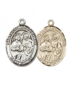 "Saint Cosmas and Saint Damian Medal - 1"" Oval"