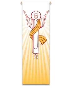 Inside Church Banner Resurrection