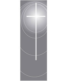 Inside Church Banner Funeral Cross
