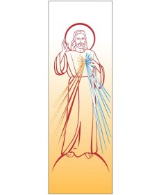 Inside Church Banner Divine Mercy