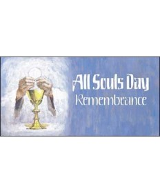 All Souls Day Blue Remembrance Offering Envelopes