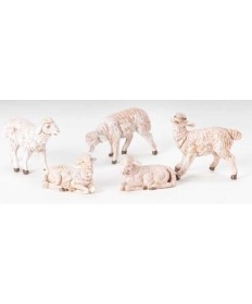 "Fontanini 5"" White Sheep 5 pc. Set"
