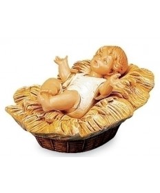 "Fontanini 7.5"" Baby Jesus in the Manger"