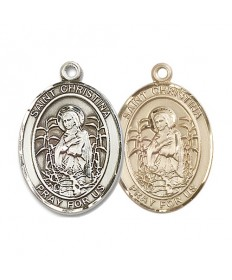 "Saint Christina the Astonishing Medal - 1"" Oval"