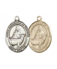 "Saint Catherine of Sweden Medal - 1"" Oval"