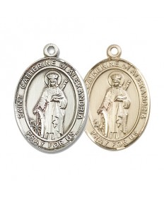 "Saint Catherine of Alexandria Medal - 1"" Oval"