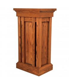 Lectern with Shelf by Woerner Industries