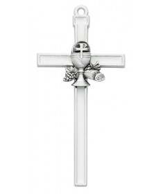"First Communion Cross 5"" White Epoxy"
