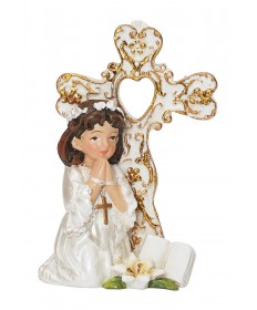 First Communion Cake Topper or Statue - Girl 3""