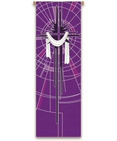 Inside Church Banner Shroud - Purple
