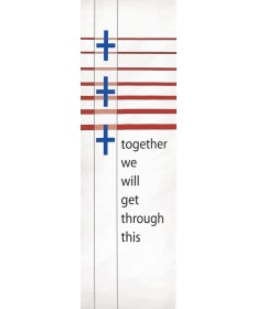 """Together"" Inside or Outside Church Banner Simple"