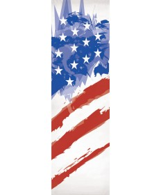 """Together"" Inside or Outside Church Banner with American Flag"